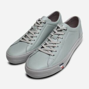 Details about Premium Grey Leather Tommy Hilfiger Sneakers for Men