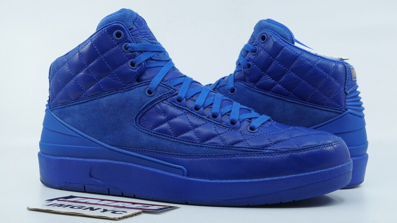 AIR JORDAN II 2 RETRO USED SIZE 11.5 JUST DON BRIGHT blueE gold RED 429614 159
