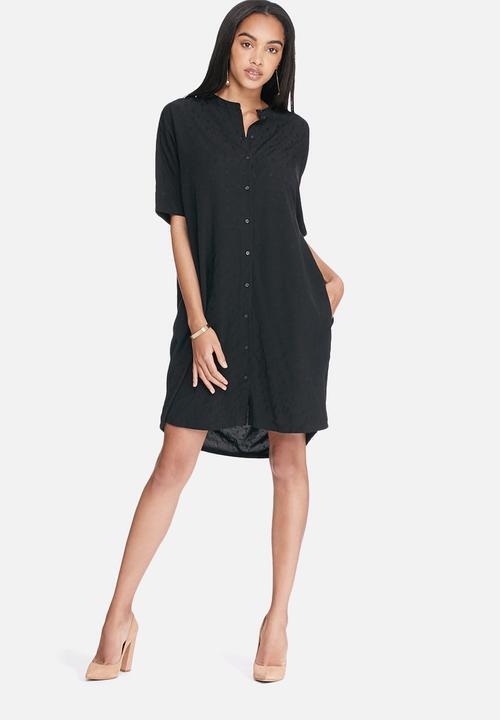 SELECTED FEMME - BNWT - Signe ButtonThru Jacquard Short Sleeve Dress - Size 8