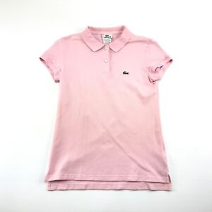 Image is loading Lacoste-Womens-Pink-Collared-Short-Sleeve-Polo-Golf- b8926d90ca