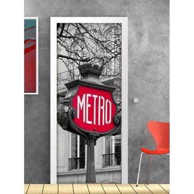 Appena Porta Personalizzata Decorazioni Arredamento Londra Metro Street Design Moderno Texture Chiara