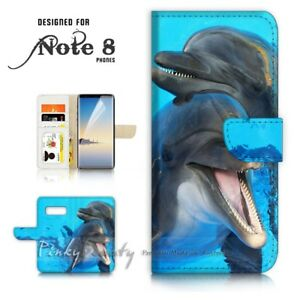For-Samsung-Note-8-Wallet-Case-Cover-P21090-Dolphin