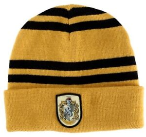 be4a75d2778 Harry Potter House of Hufflepuff Colors Beanie Hat with Crest NEW ...