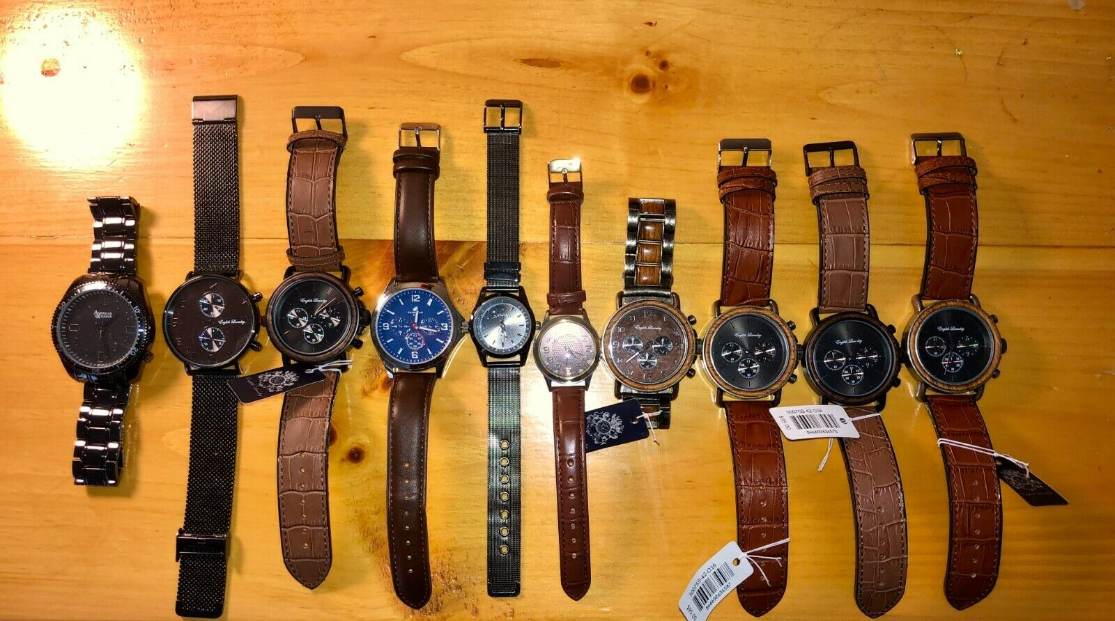 Lot of 10 New Mens Watches, U.S. Polo Assn, English Laundry, Great Resale Value