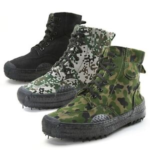 sale retailer 30938 b6141 Details about Army Camouflage Boots Combat Patrol Training Military Camo  Canvas Shoes Sneaker