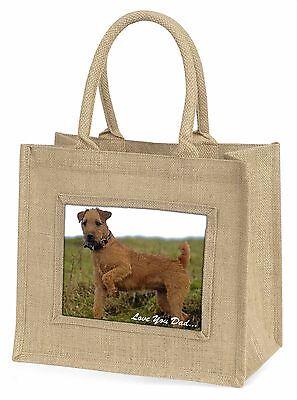 Lakeland Terrier 'Liebe dich Papa' Große Natürliche Jute-einkaufstasche Chris,