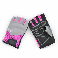 Weighted Lifting Gloves Half Finger Size M, Pink For Women, Gym Workout