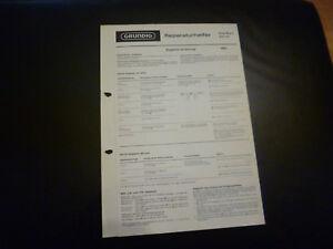 Aus Dem Ausland Importiert Original Service Manual Grundig Elite Boy L 203 A Extrem Effizient In Der WäRmeerhaltung Anleitungen & Schaltbilder