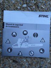 STIHL CHAIN SAW SAFETY MANUAL Spanish Manual De Seguridad