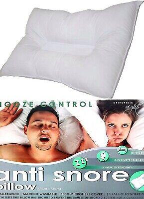 Kensingtons Anti Ronflements Orthopédique Oreiller Tête /& Cou Soutien Snooze Control