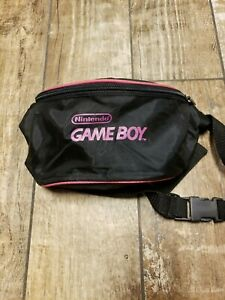 Nintendo-Gameboy-Pink-And-Black-Fanny-Pack-Great-Condition-Fast-Shipping