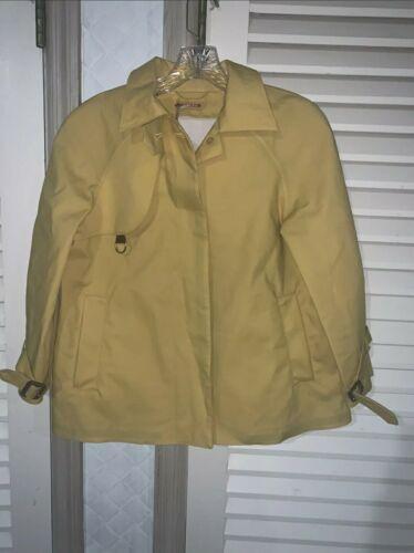 Prada Short Trech Coat rain Coat Jacket Yellow Sz