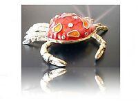 Jewelry Box , Cancer Pill Box, Animal Figurine