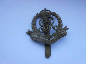Details about military police original cap badge with vintage repair slider