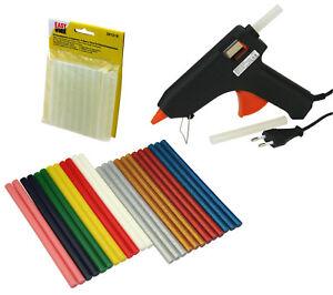 Heissklebepistole-Set-XL-Klebesticks-transparent-bunt-glitzer-Pistole-ID-0033