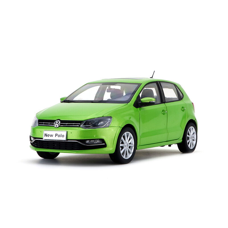 ORIGINAL MODEL 1 18 Volkswagen VW,NEW POLO 2014,GREEN