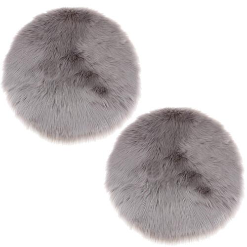 2 pezzi Round Shaggy Tappeti Morbido soggiorno camera da letto Fluffy