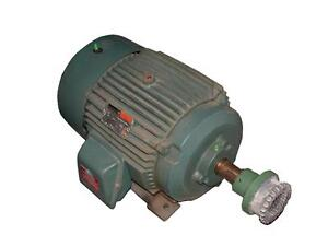 Reliance electric 3 phase ac motor 20 hp model p25g372e for 20 hp single phase motor
