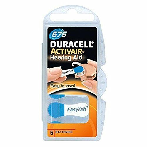 Pack of 60 Duracell 675 Hearing Aid Battery Blue Tab Activair 1.45v PR44 Easytab