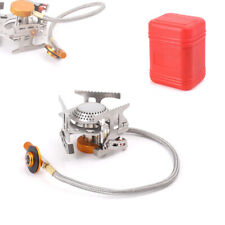 RT-808 Portable Outdoor Picnic Gas Burner Foldable Camping Mini Steel Stove Case