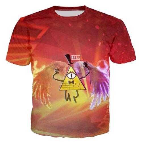 Women Men T-Shirt 3D Print Short Sleeve Tee Tops Cartoon Gravity Falls Casual