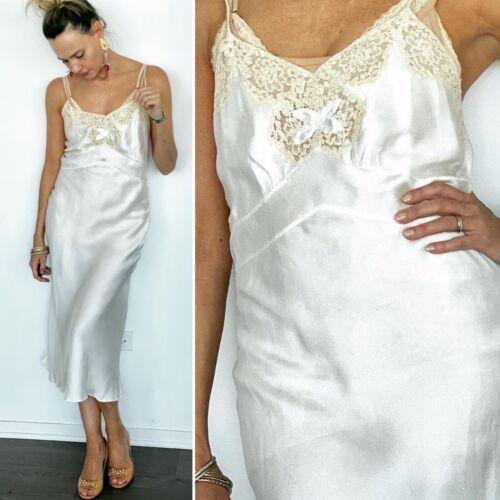 40s Silk Nightgown - 40s Nightgown - 1940s Silk N… - image 1