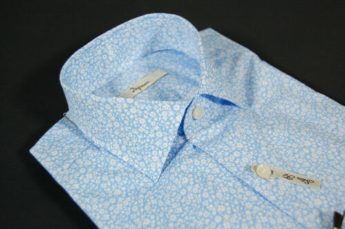 A Camicia Stecche Moda Con Stampa Fit Collo Ingram Estraibili Fiori Slim Celeste H7S7RnIp