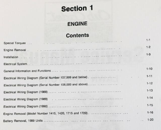 Cub Cadet 1215 1220 1315 1320 Lawn Garden Tractor Service Manual Repair on