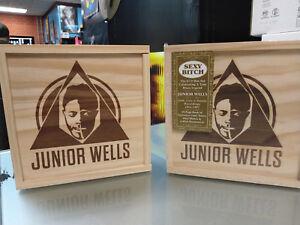 JUNIOR-WELLS-Box-of-Blues-CD-BOX-SET-6-discs-48-page-book-mini-Harmonica