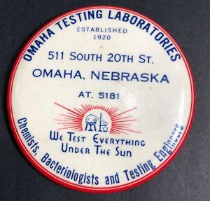 Omaha-Nebraska-Chemists-Celluloid-Paperweight-Mirror-Advertising-Sign