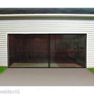 New double garage door screen 16 ft w x 7 ft h magnetic for 16 ft garage door prices