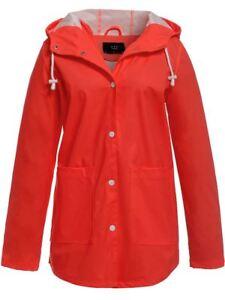 Womens-Waterproof-Windproof-Raincoat-Hooded-Jacket-Red-Size-14-16-8-10-12-NEW