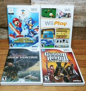 Nintendo-Wii-Mario-amp-Sonic-At-The-Winter-Olympic-Games-Wii-Play-Game-Lot-Of-4