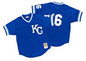 Mitchell-amp-Ness-MLB-Kansas-City-Royals-Authentic-BP-Jersey-16-Bo-Jackson-1989
