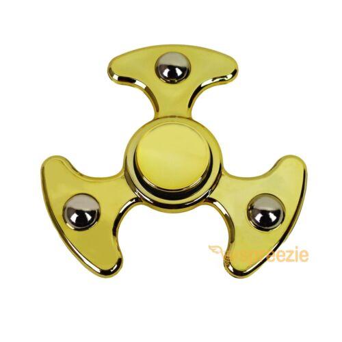 Metallic GOLD Hand Spinner Fidget Spinner Toy Anxiety Stress Relief Focus ADHD