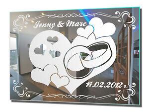 Motivspiegel Hochzeit 6 Hochzeitsgeschenk Geschenk Spiegel Gravur ...