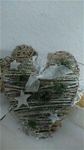 Corazon-Estrellas-Navidad-Shabby-suspension-de-Puerta-Decoracion-Ventanas-Chic
