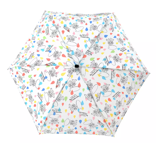 Disney Wpc. Chip & Dale Folding Umbrella with Pouch Rainy Day 2021