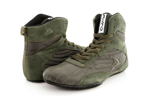 PIMD Black X-Core Gym Shoes Training High Top Boots Bodybuilding MMA Boxing V2