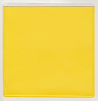 Yellow Car Parking Permit Holder Square Permit Disc Holder Pouch 100 x 100mm