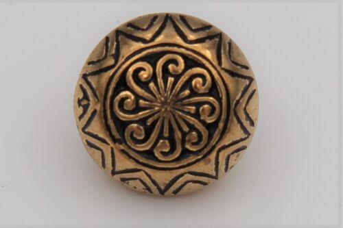 Trachten Dirndlknöpfe Ösenknöpfe 5 Stück gold antik Metallknöpfe geschwärzt