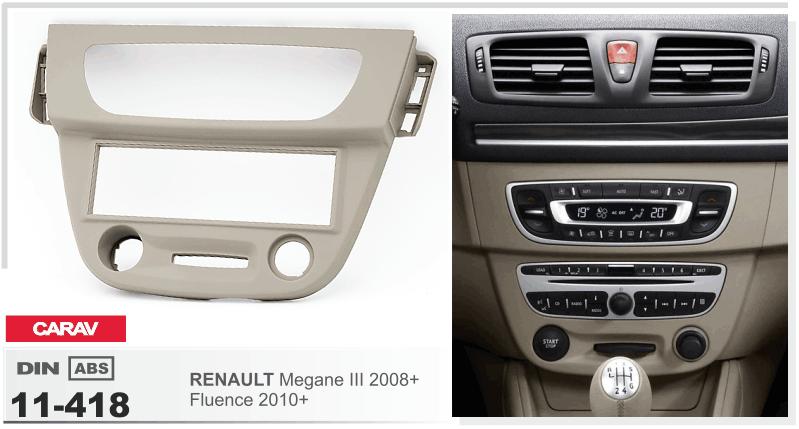 Radio kit de integracion auto 1 din diafragma adaptador Renault Clio III refrescos combi 9//05 /> 12//12