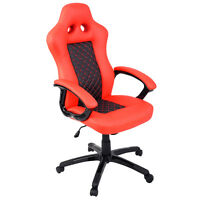 GoPlus Race-Inspired High-Back Office Chair in Orange