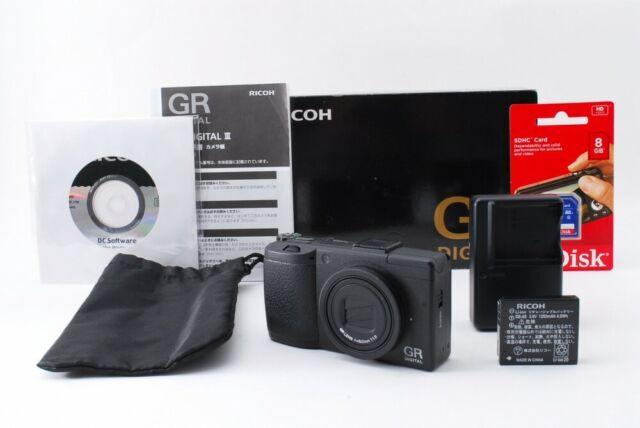 Ricoh GR Digital III 10.0MP Digital Camera Black[Exc w/Box,8GB SD Card[705]