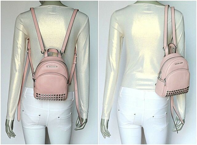0fb5080291 Michael Kors Leather Abbey XS Studded Backpack 35t7sayb1l in Blossom ...