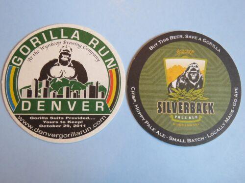 Wynkoop Brewery Silverback Pale Ale ~ Denver BEER Collectible COASTER Colorado
