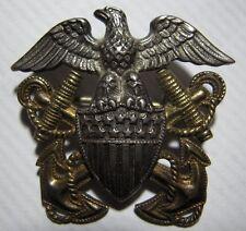 WW2 US Navy Officer's Sterling Hat Badge *H-H*  for Side Hat