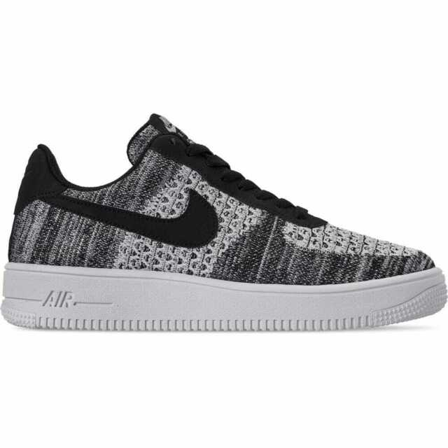 the latest 7e8d6 af204 Men's Nike Air Force 1 Flyknit 2.0 Casual Shoes Black/Pure  Platinum/Black/White
