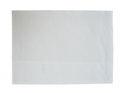 Brand New Baby Landau//cotbed Taie d/'oreiller 30x35 cm 100/% Coton En Blanc