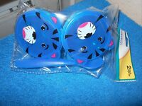 Animal Snack Containers Nip Set Of 2 1 Spoon Dark Blue Tiger Cute